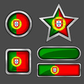 Portugal flag icons — Stock Vector
