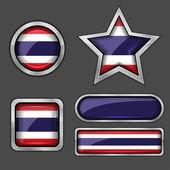 Thailand flag icons — Stock Vector