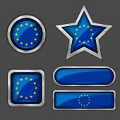 European union flag icons — Stock Vector