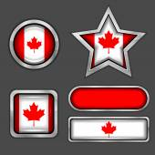 Canadian flag icons vector — Stock Vector