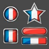 France flag icons — Stock Vector