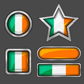 Ireland flag icons — Stock Vector