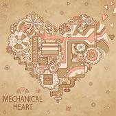 Frame mechanical heart — Vettoriale Stock