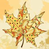 Maple autumn leaf — Stock Vector