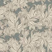 Floral wavelike pattern. — Stock Vector