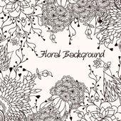 Achtergrond met bloemen — Stockvector