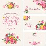 Vintage wedding invitation cards. — Stock Vector #56811917