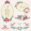 Vintage floral set. — Stock Vector #56813003