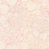 Pattern of peonies. — Stock Vector