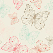 Butterflies seamless pattern — Stock Vector