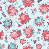 Pattern with  roses. — Stock Vector
