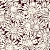 Seamless daisies pattern. — Stock Vector