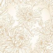 Gold flowers chrysanthemum — Stock Vector