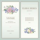 Invitations in vintage style — Stock Vector
