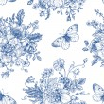 Seamless  pattern  flowers and butterflies. — Stock Vector #73776351