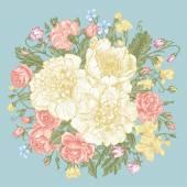 Bouquet of summer flowers. — Stock Vector