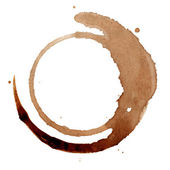 Isolated coffee stain — Stock Photo