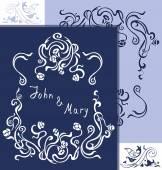 Wedding vintage cards — Stock Vector