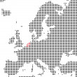 Pixel map of europe showing the Netherlands — Stock Photo #62678817