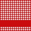 Tablecloth pattern red and white with red stripe — Stock Photo #62682683