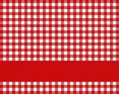 Tablecloth pattern red and white with red stripe — Stock Photo