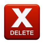 Button - Delete — Stock Photo #67235019