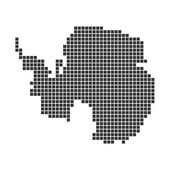Pixel Map of Antarctica — Foto de Stock