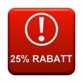 Button - 25 Percent discount — Stock Photo