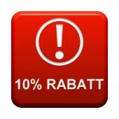 Button - 10 Percent  Discount — Stock Photo