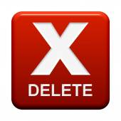 Button - Delete — Stock Photo