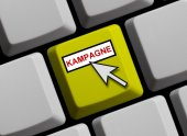 Computer Keyboard - Campaign — Stock Photo