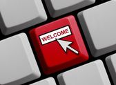Computer Keyboard - Welcome — Stockfoto