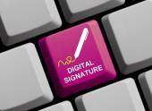 Digital signature online — Stock Photo
