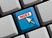 Computer Keyboard - Index — Stock Photo