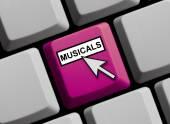 Klawiaturze komputera - musicale — Zdjęcie stockowe