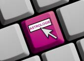 Clavier d'ordinateur - astrologie — Photo