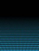 3D Background with blue dots — Stock Photo