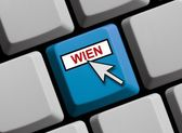 Computer Keyboard Vienna — Stock Photo