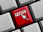 Computer Keyboard Paris — Fotografia Stock