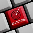 Computer Keyboard with Symbol showing success — Stock Photo #67624687