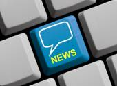 Computer Keyboard with Symbol showing News — Stock Photo
