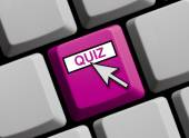 Computer Keyboard showing quiz — Stock Photo