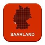 Red Button - German region Saarland — Stock Photo #67795865