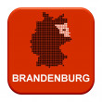 Red Button - German region Brandeburg — Stock Photo #67795943