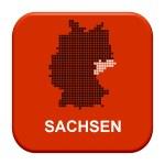 Red Button - German region Sachsen — Stock Photo #67795993