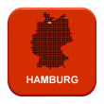 Red Button - German region Hamburg — Stock Photo #67796043