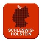 Red Button - German region Schleswig-Holstein — Stock Photo #67796115