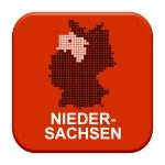 Red Button - German region Niedersachsen — Stock Photo #67796479