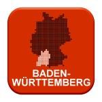 Red Button - German region Baden Wuertemberg — Stock Photo #67796575