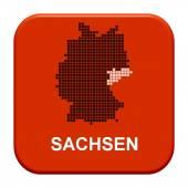 Red Button - German region Sachsen — Stock Photo